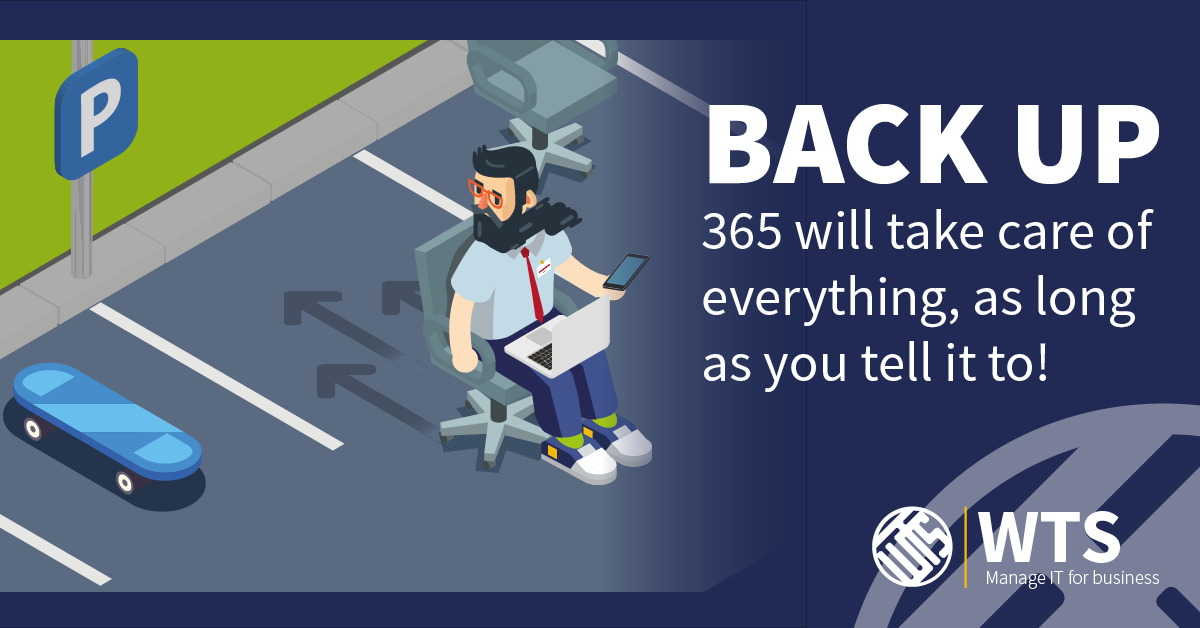 365 Backup will take care of everything - you just have to tell it to